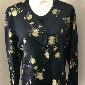April Cornwell Women's Size M Silk Jacket